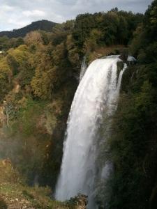 La cascata delle Marmore. Dalla cima. Una sfacchinata ma ne è valsa la pena