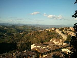 Il panorama dall'alto di Perugia.